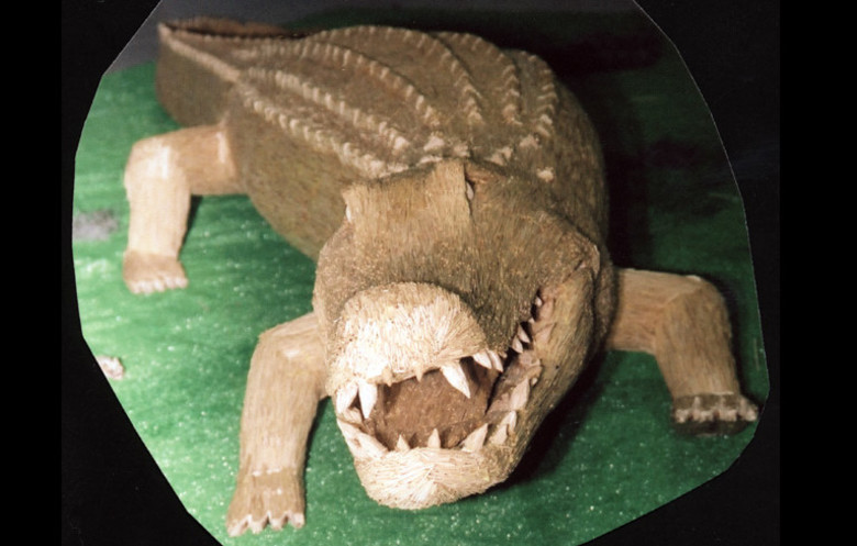 Aligator din scobitori