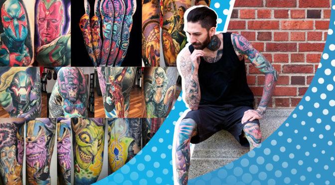 Record tatuaje personaje Marvel