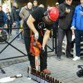 Sticle de bere deschise cu drujba
